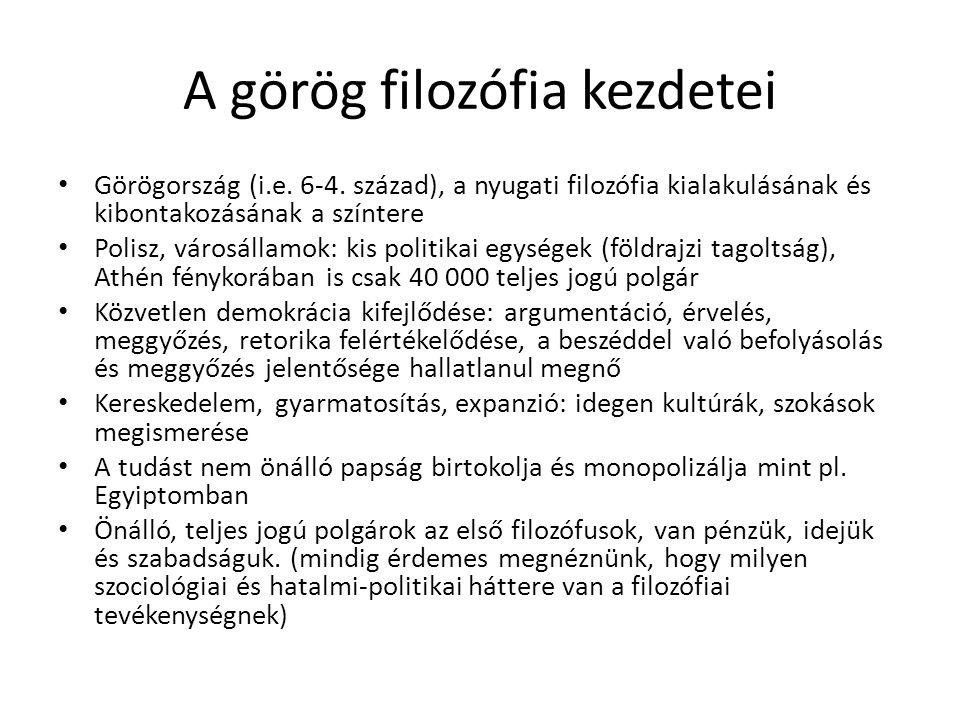 A görög filozófia kezdetei