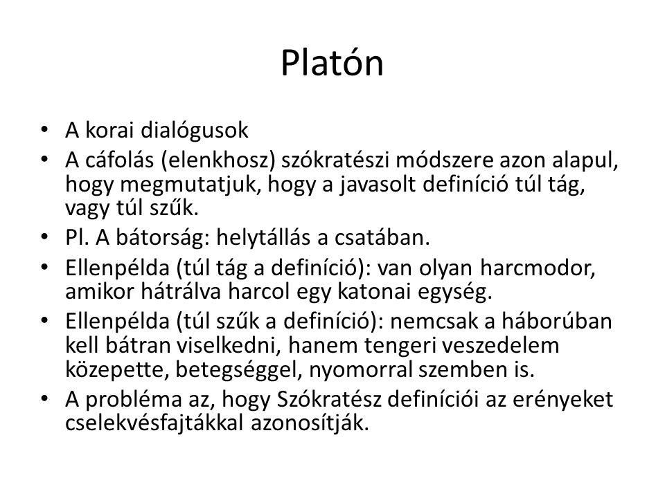 Platón A korai dialógusok