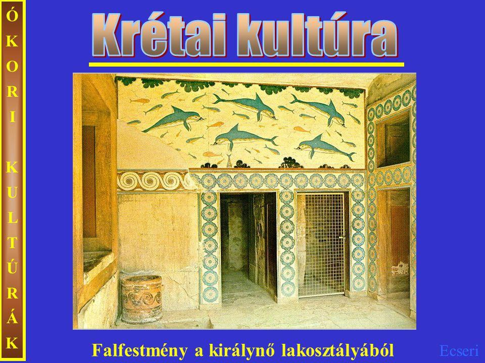 ÓKORI KULTÚRÁK Krétai kultúra Falfestmény a királynő lakosztályából