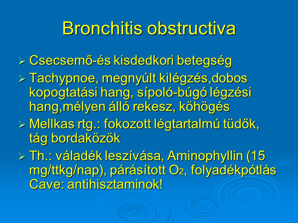 Bronchitis obstructiva