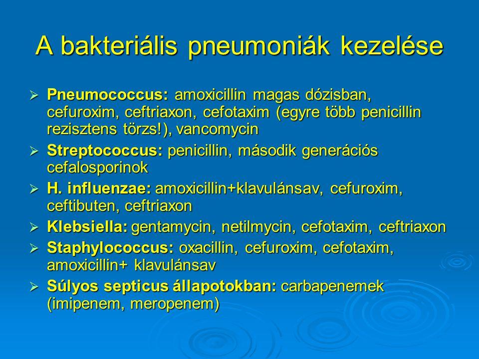 A bakteriális pneumoniák kezelése