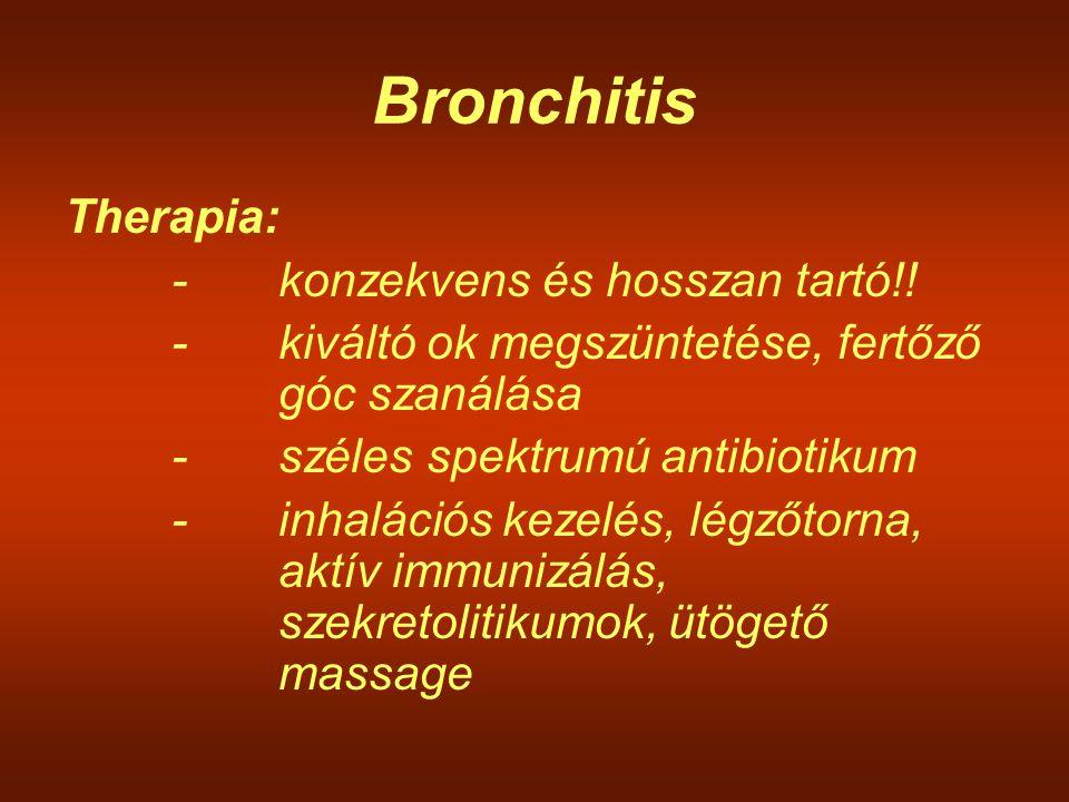 Bronchitis Therapia: - konzekvens és hosszan tartó!!