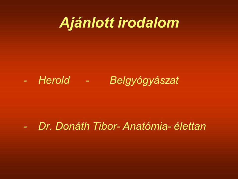 Ajánlott irodalom - Herold - Belgyógyászat