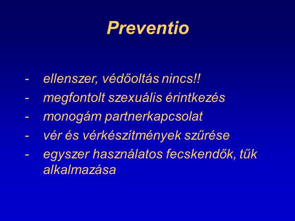 Preventio - ellenszer, védőoltás nincs!!