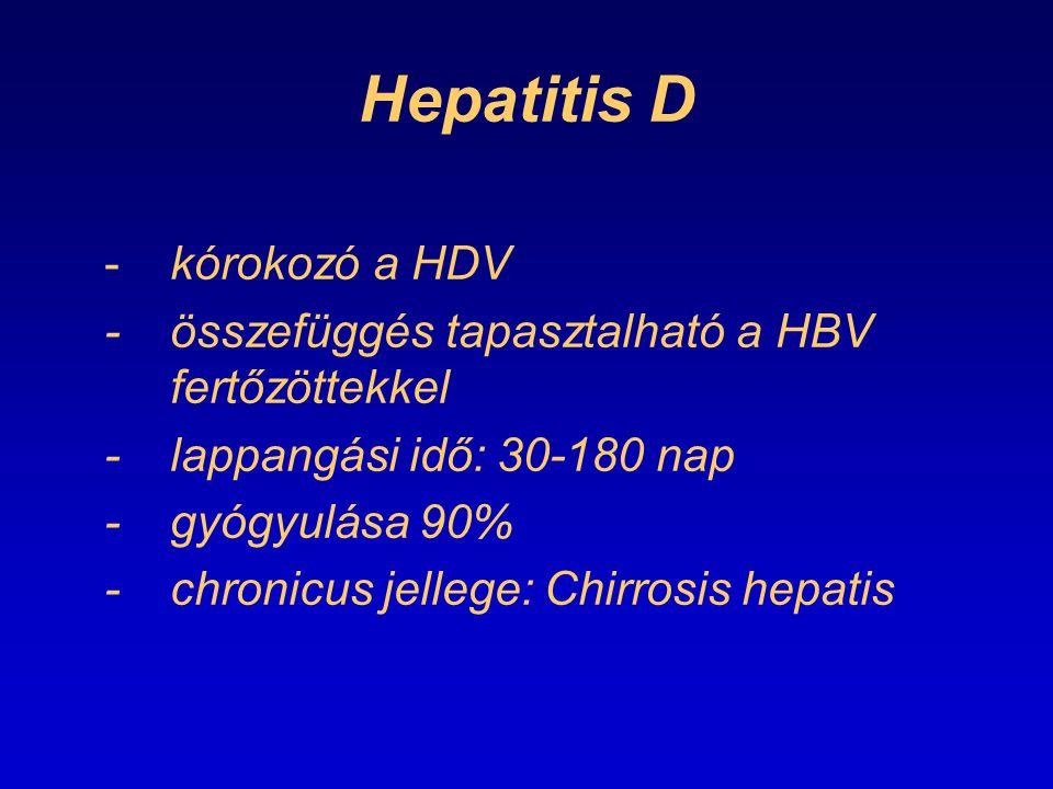Hepatitis D - kórokozó a HDV