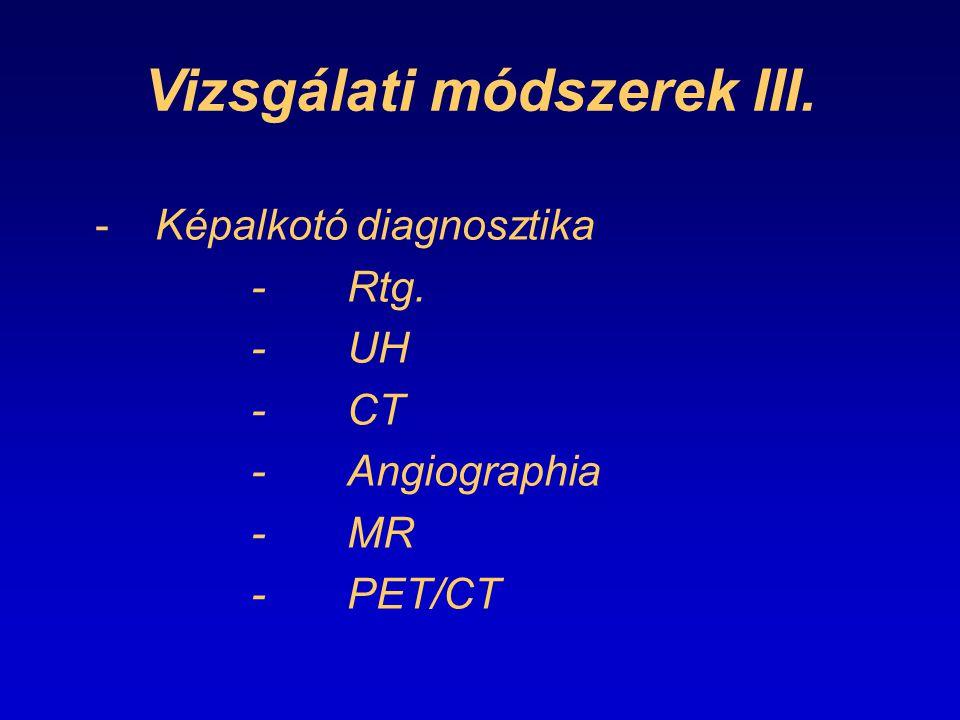 Vizsgálati módszerek III.