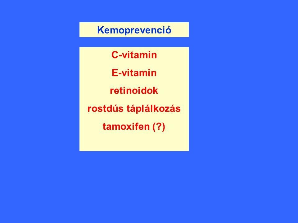 Kemoprevenció C-vitamin E-vitamin retinoidok rostdús táplálkozás tamoxifen ( )