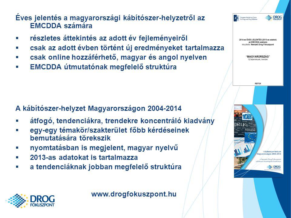Éves jelentés a magyarországi kábítószer-helyzetről az EMCDDA számára