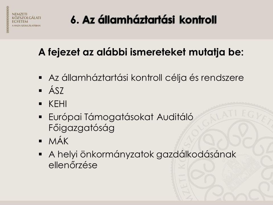 6. Az államháztartási kontroll