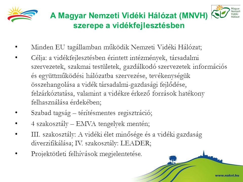 A Magyar Nemzeti Vidéki Hálózat (MNVH) szerepe a vidékfejlesztésben