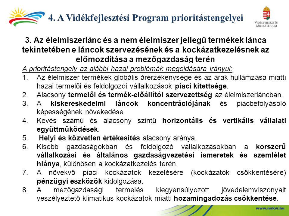 4. A Vidékfejlesztési Program prioritástengelyei