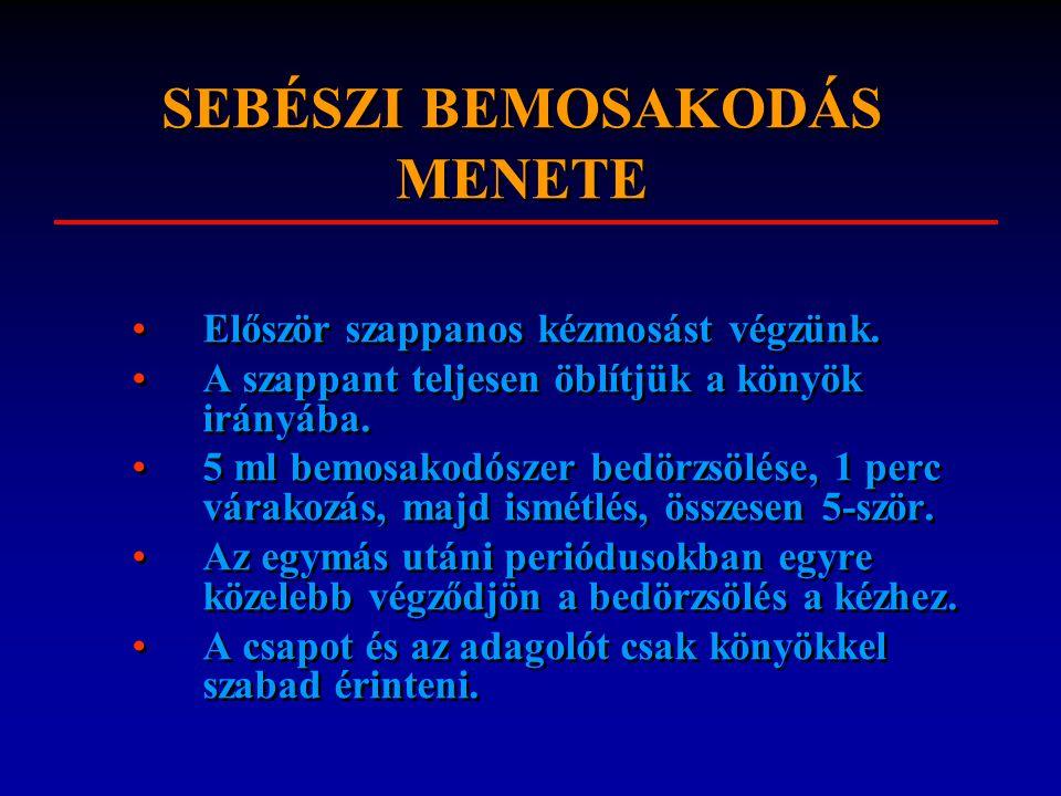 SEBÉSZI BEMOSAKODÁS MENETE