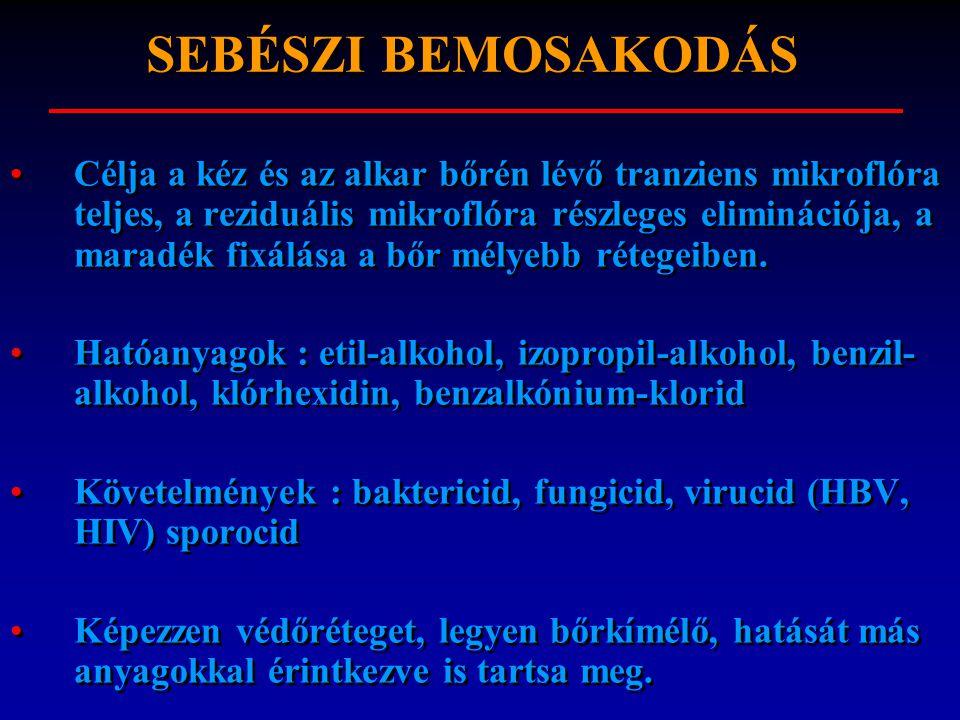 SEBÉSZI BEMOSAKODÁS