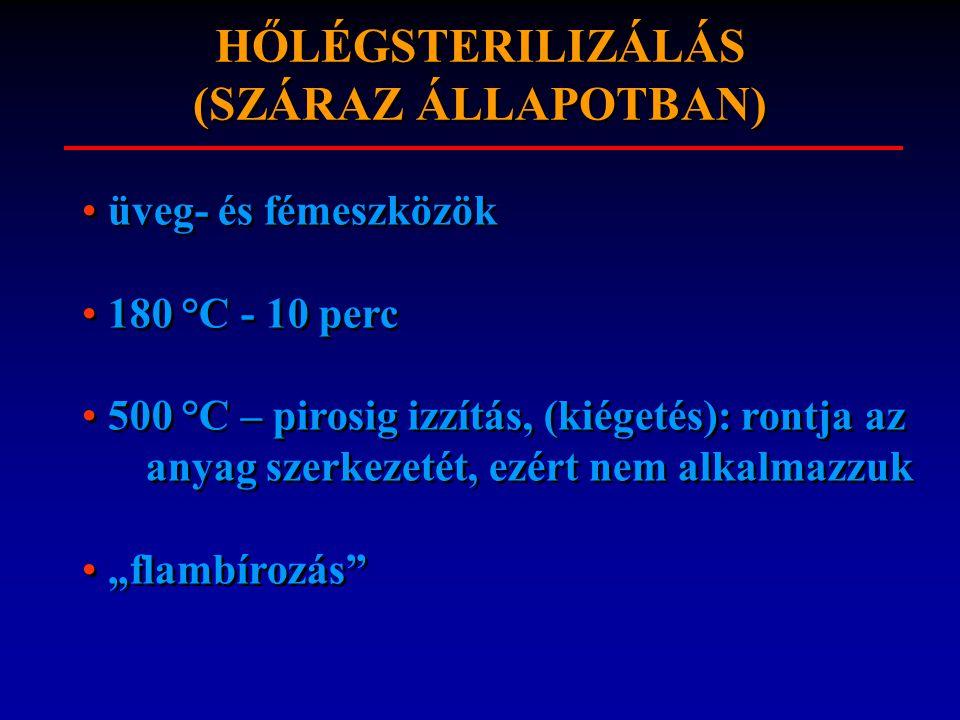 HŐLÉGSTERILIZÁLÁS (SZÁRAZ ÁLLAPOTBAN)