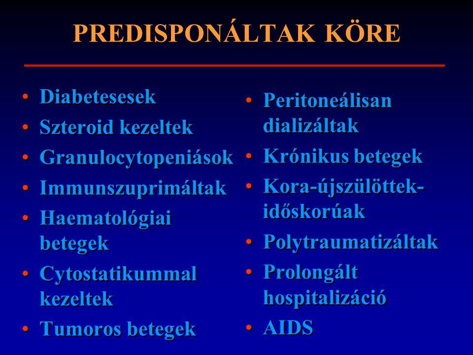 PREDISPONÁLTAK KÖRE Diabetesesek Peritoneálisan dializáltak