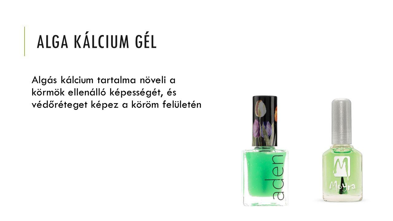 Alga kálcium gél Algás kálcium tartalma növeli a körmök ellenálló képességét, és védőréteget képez a köröm felületén.