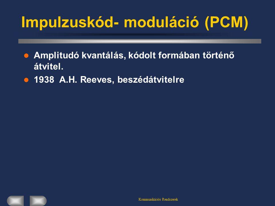 Impulzuskód- moduláció (PCM)