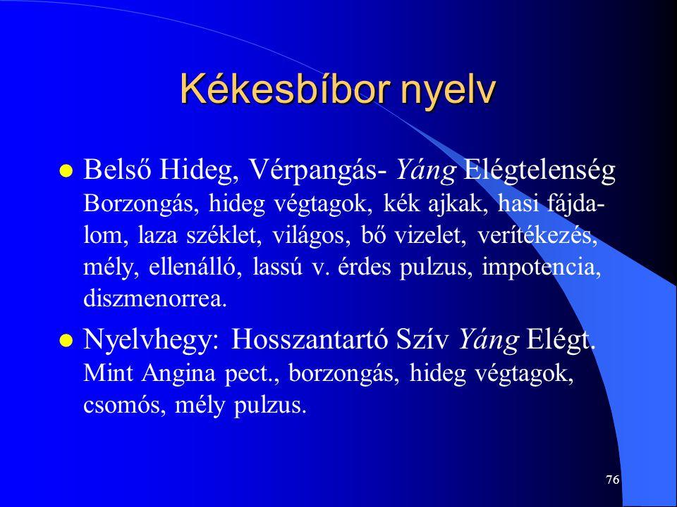 Kékesbíbor nyelv