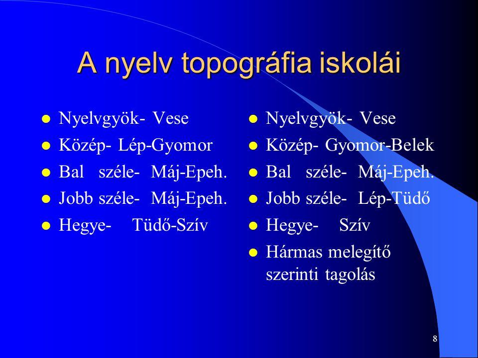 A nyelv topográfia iskolái