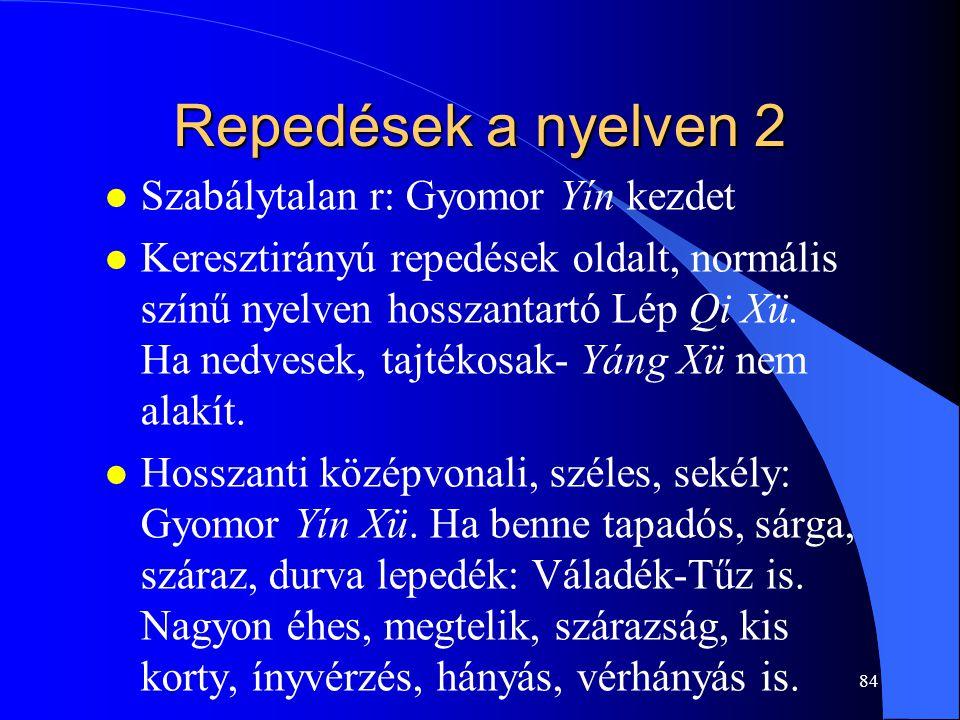 Repedések a nyelven 2 Szabálytalan r: Gyomor Yín kezdet