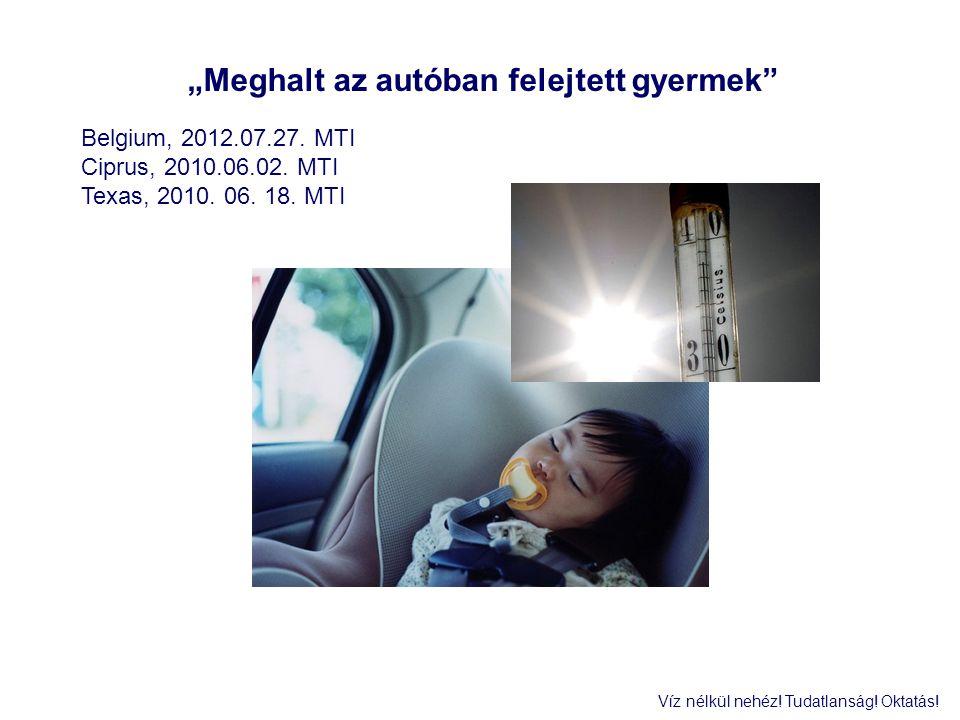 """""""Meghalt az autóban felejtett gyermek"""