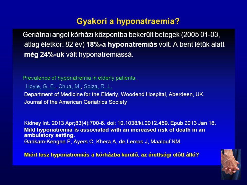 Gyakori a hyponatraemia