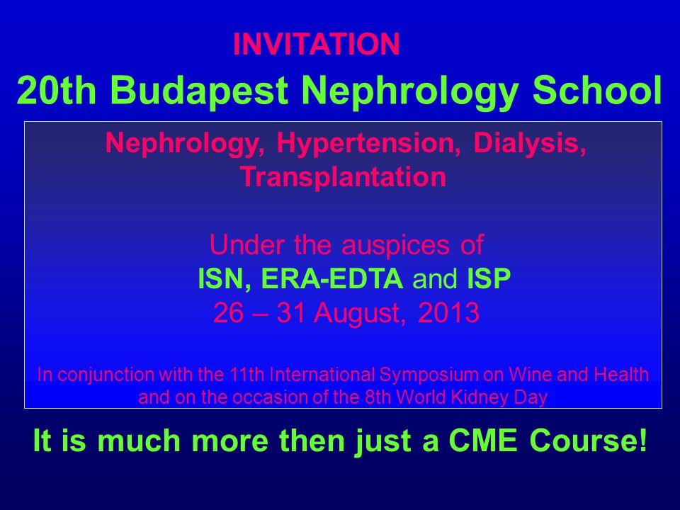 20th Budapest Nephrology School