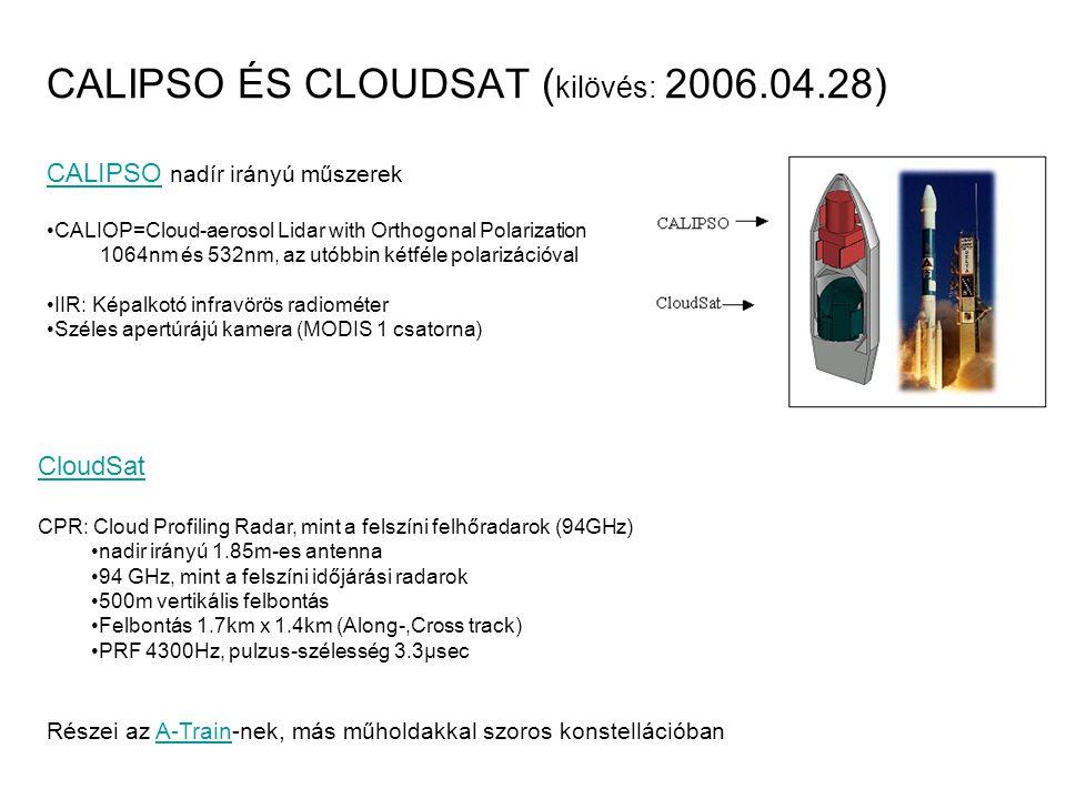 CALIPSO ÉS CLOUDSAT (kilövés: 2006.04.28)