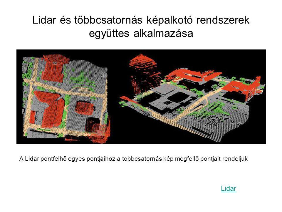 Lidar és többcsatornás képalkotó rendszerek együttes alkalmazása
