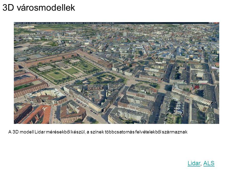 3D városmodellek Lidar, ALS