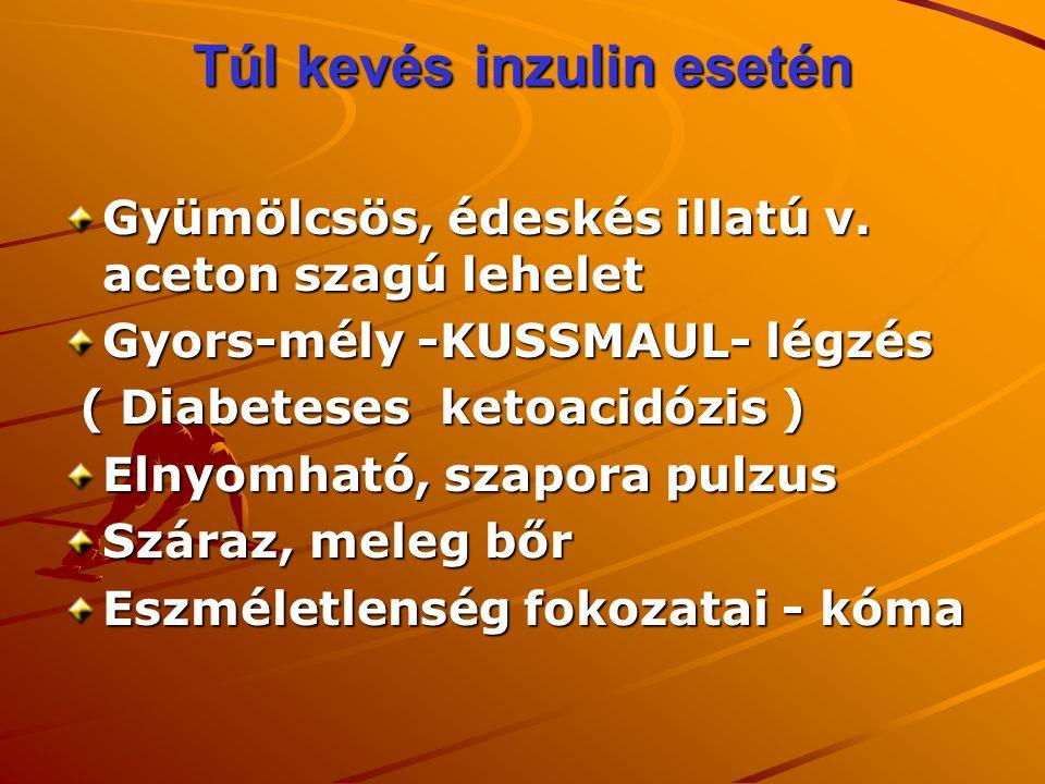 Túl kevés inzulin esetén
