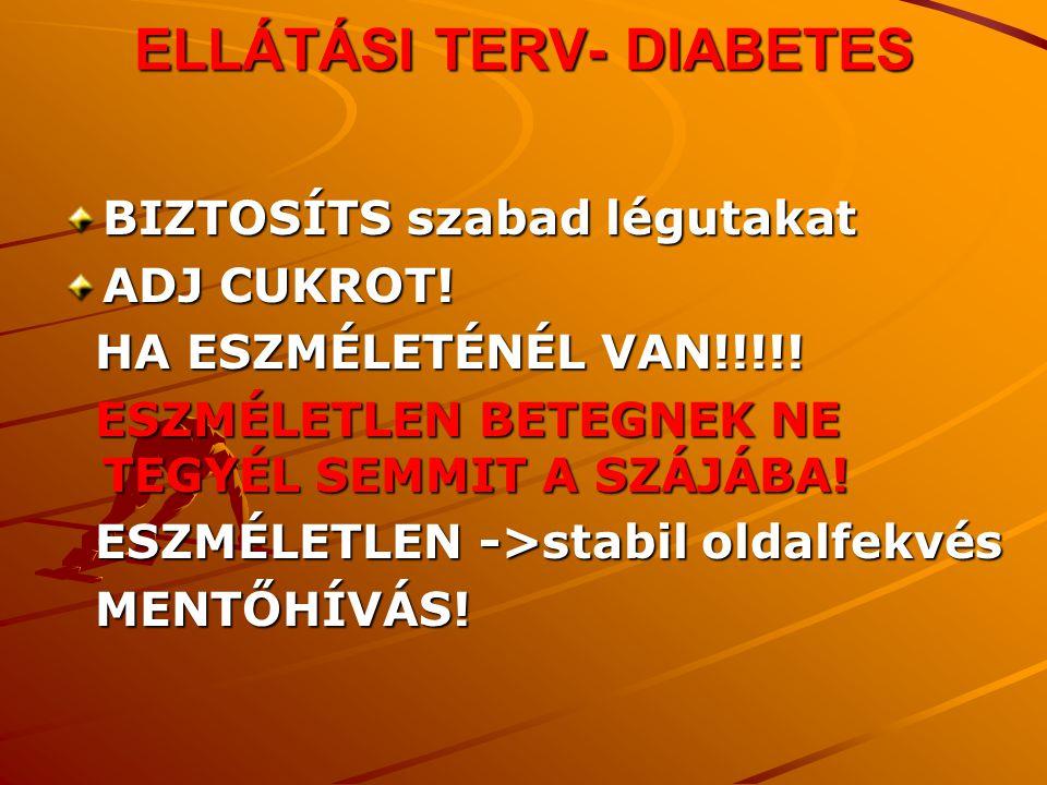 ELLÁTÁSI TERV- DIABETES