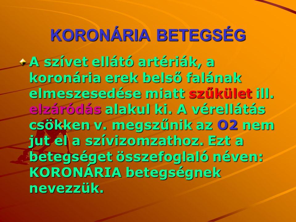 KORONÁRIA BETEGSÉG