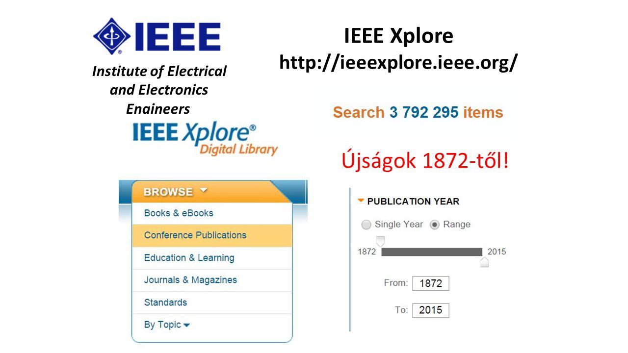 IEEE Xplore http://ieeexplore.ieee.org/