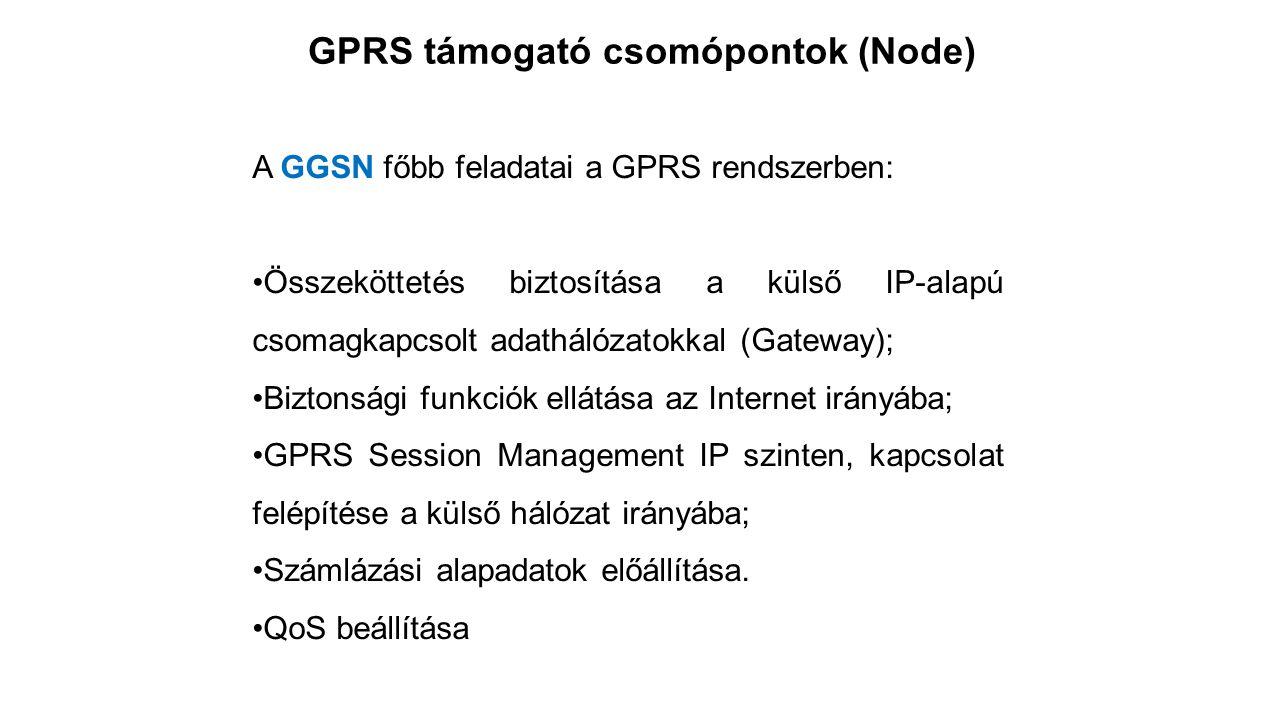 GPRS támogató csomópontok (Node)