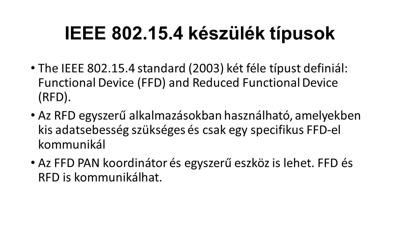IEEE 802.15.4 készülék típusok