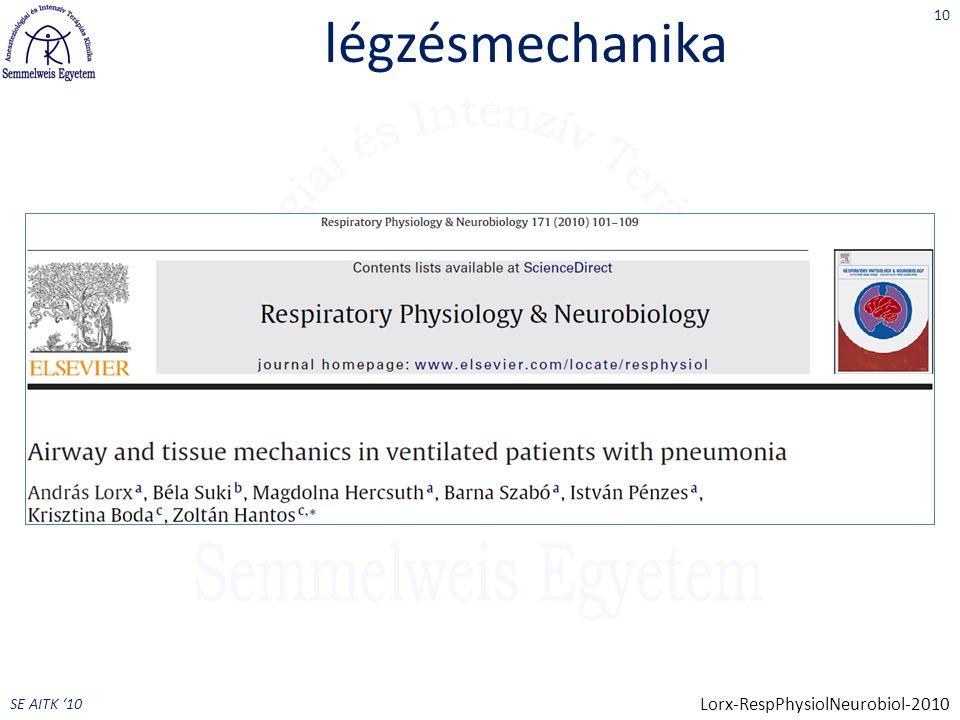 légzésmechanika Lorx-RespPhysiolNeurobiol-2010