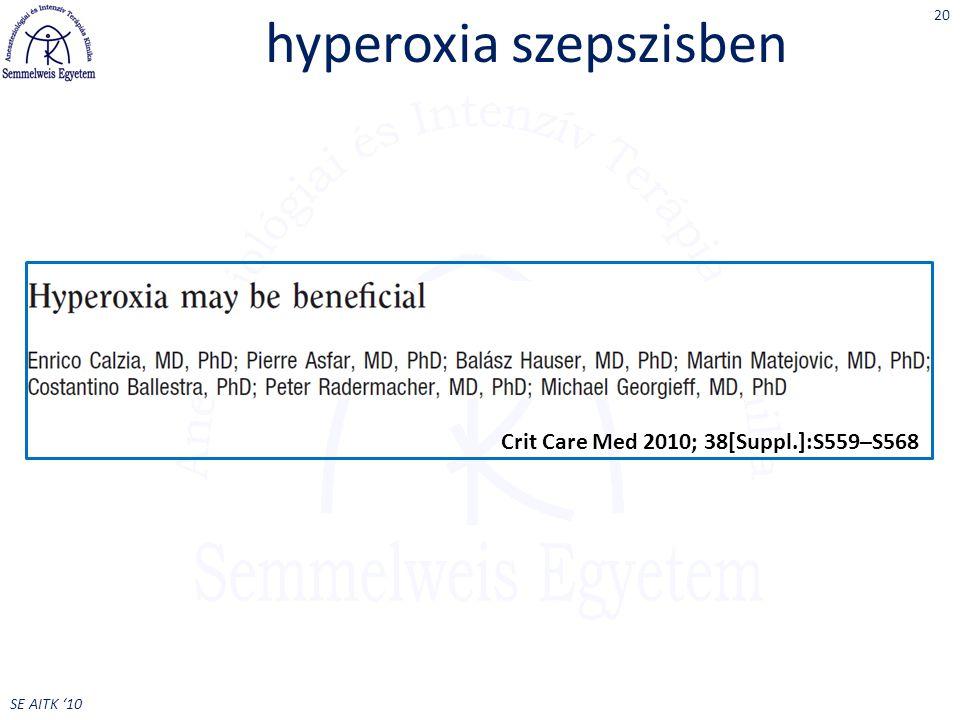 hyperoxia szepszisben
