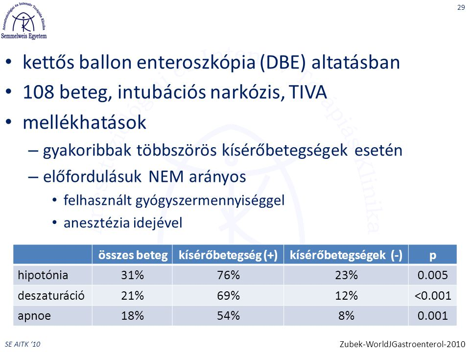 kettős ballon enteroszkópia (DBE) altatásban