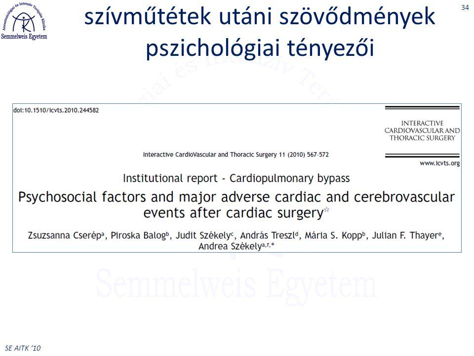 szívműtétek utáni szövődmények pszichológiai tényezői