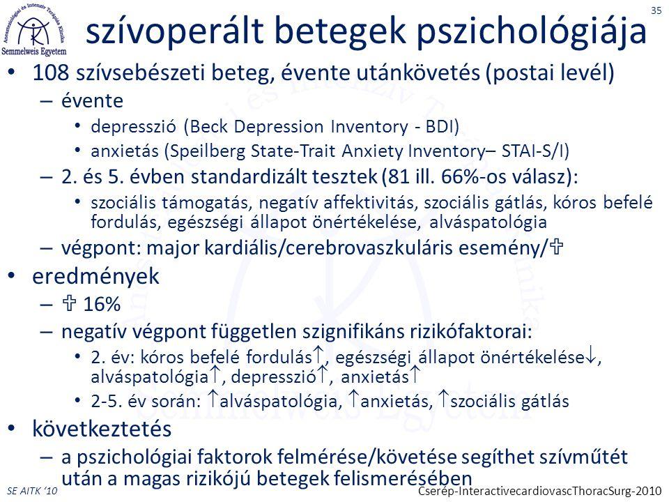 szívoperált betegek pszichológiája