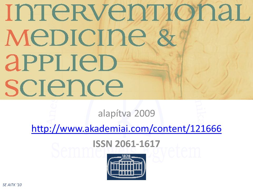 Interventional Medicine & Applied Sciences