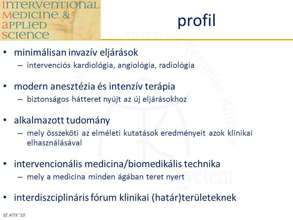 profil minimálisan invazív eljárások