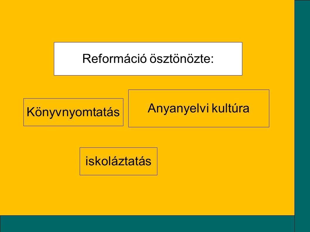 Reformáció ösztönözte: