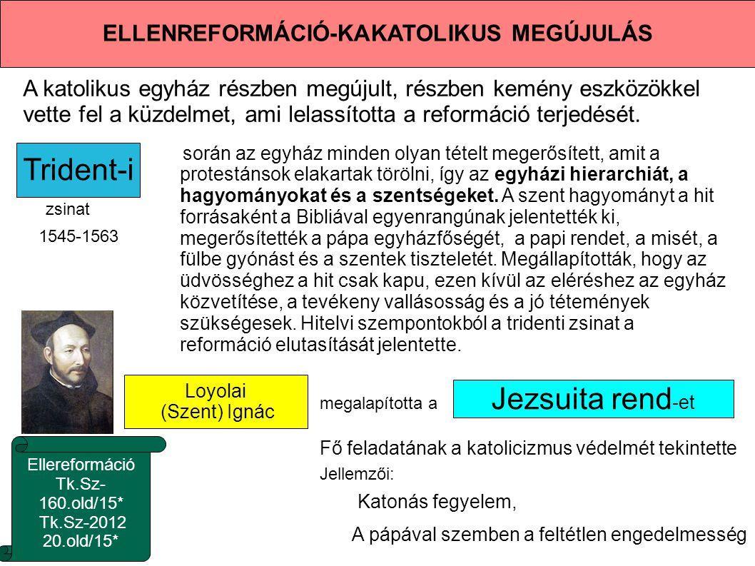 ELLENREFORMÁCIÓ-KAKATOLIKUS MEGÚJULÁS