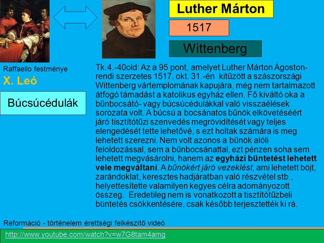 Luther Márton Wittenberg 1517 X. Leó Búcsúcédulák