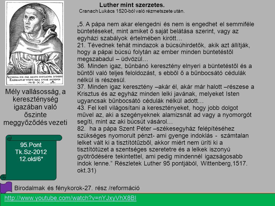 Luther mint szerzetes. Cranach Lukács 1520-ból való rézmetszete után.