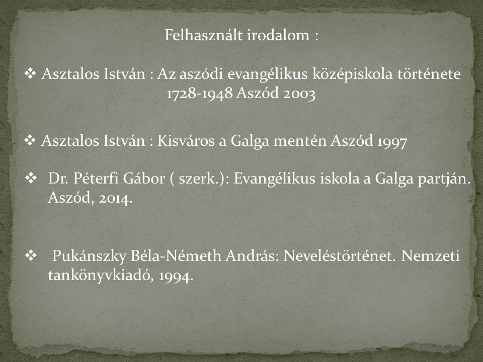 Felhasznált irodalom :
