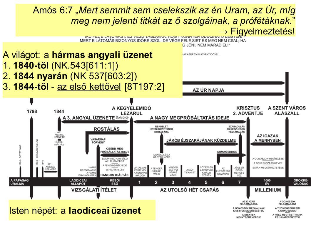 """Amós 6:7 """"Mert semmit sem cselekszik az én Uram, az Úr, míg meg nem jelenti titkát az ő szolgáinak, a prófétáknak. → Figyelmeztetés!"""