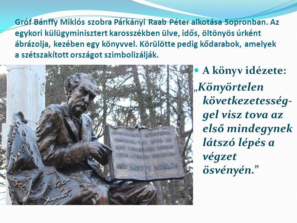 Gróf Bánffy Miklós szobra Párkányi Raab Péter alkotása Sopronban
